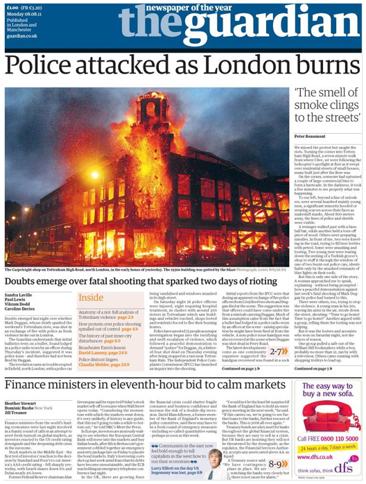 Guardian Newspaper Frontpage